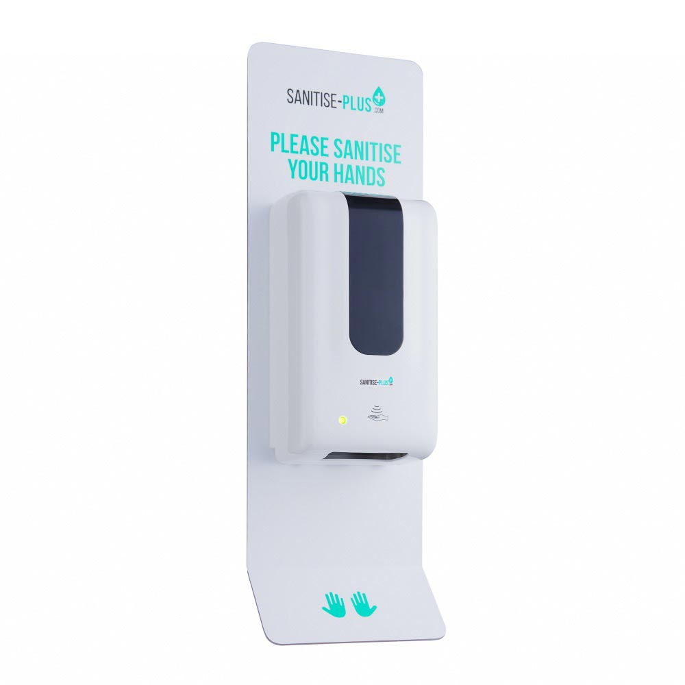 Design 1 - SANITISE PLUS - WALL-MOUNTED AUTOMATIC SANITISING STATION - TOUCH FREE