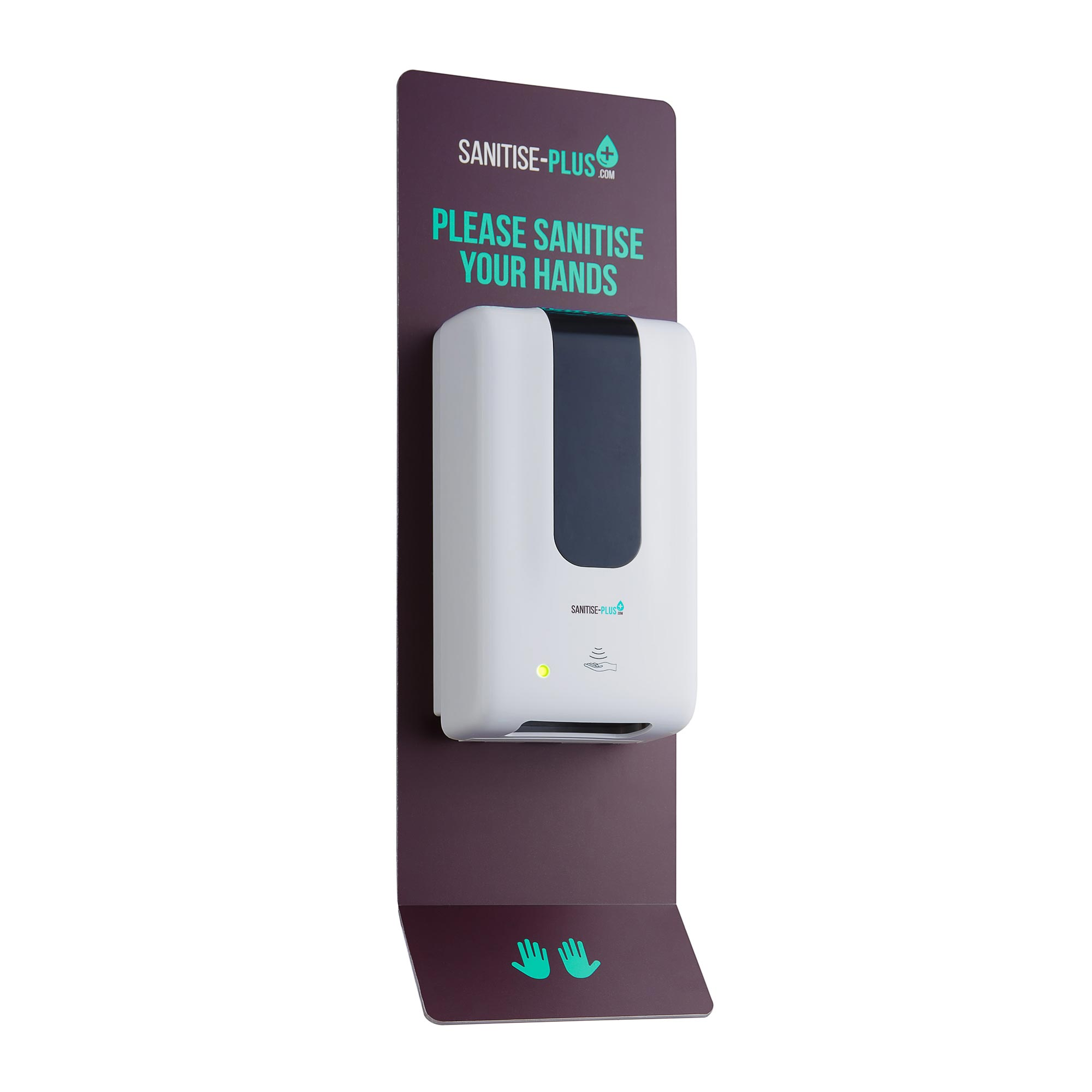 Design 2 - SANITISE PLUS - WALL-MOUNTED AUTOMATIC SANITISING STATION - TOUCH FREE