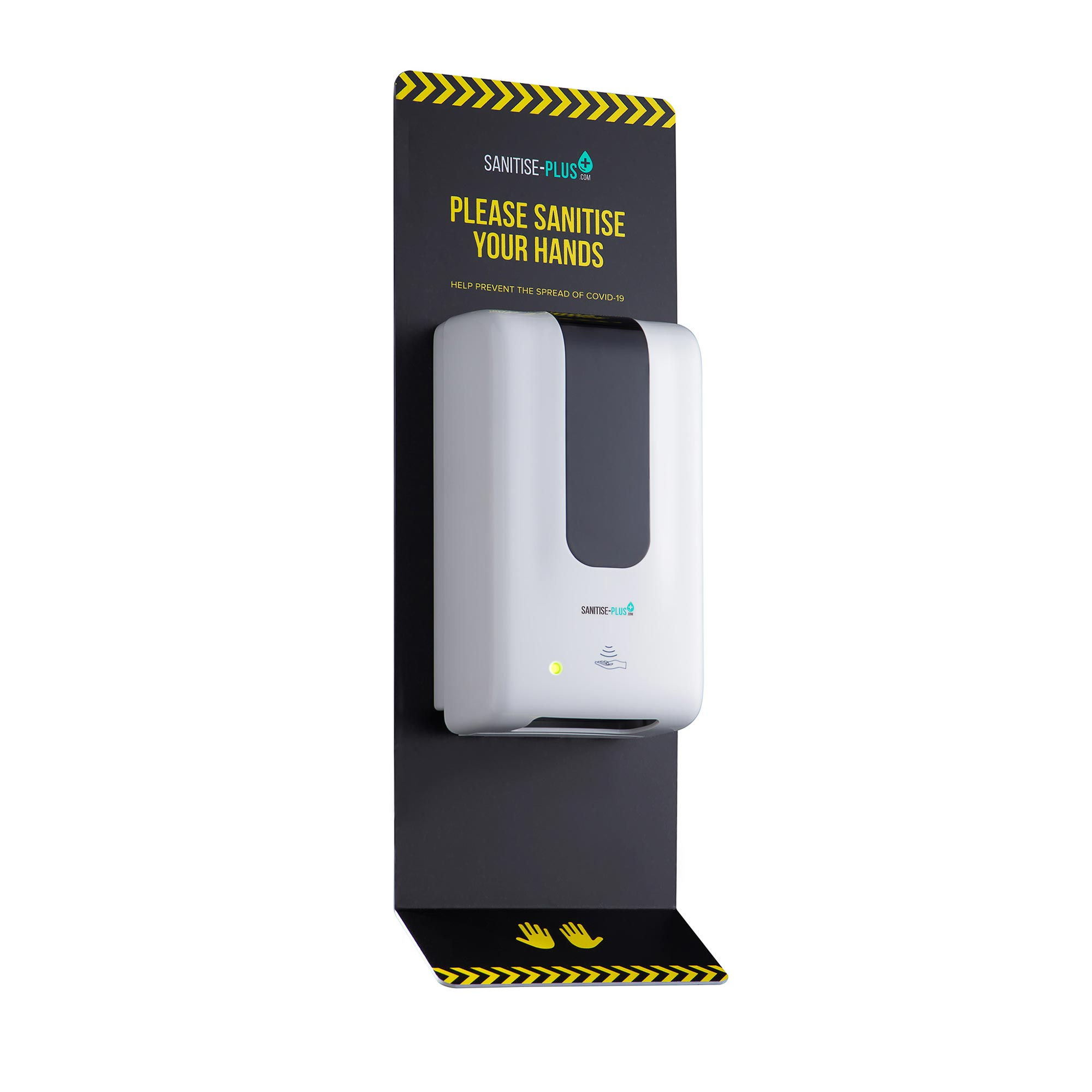 Design 4 - SANITISE PLUS - WALL-MOUNTED AUTOMATIC SANITISING STATION - TOUCH FREE