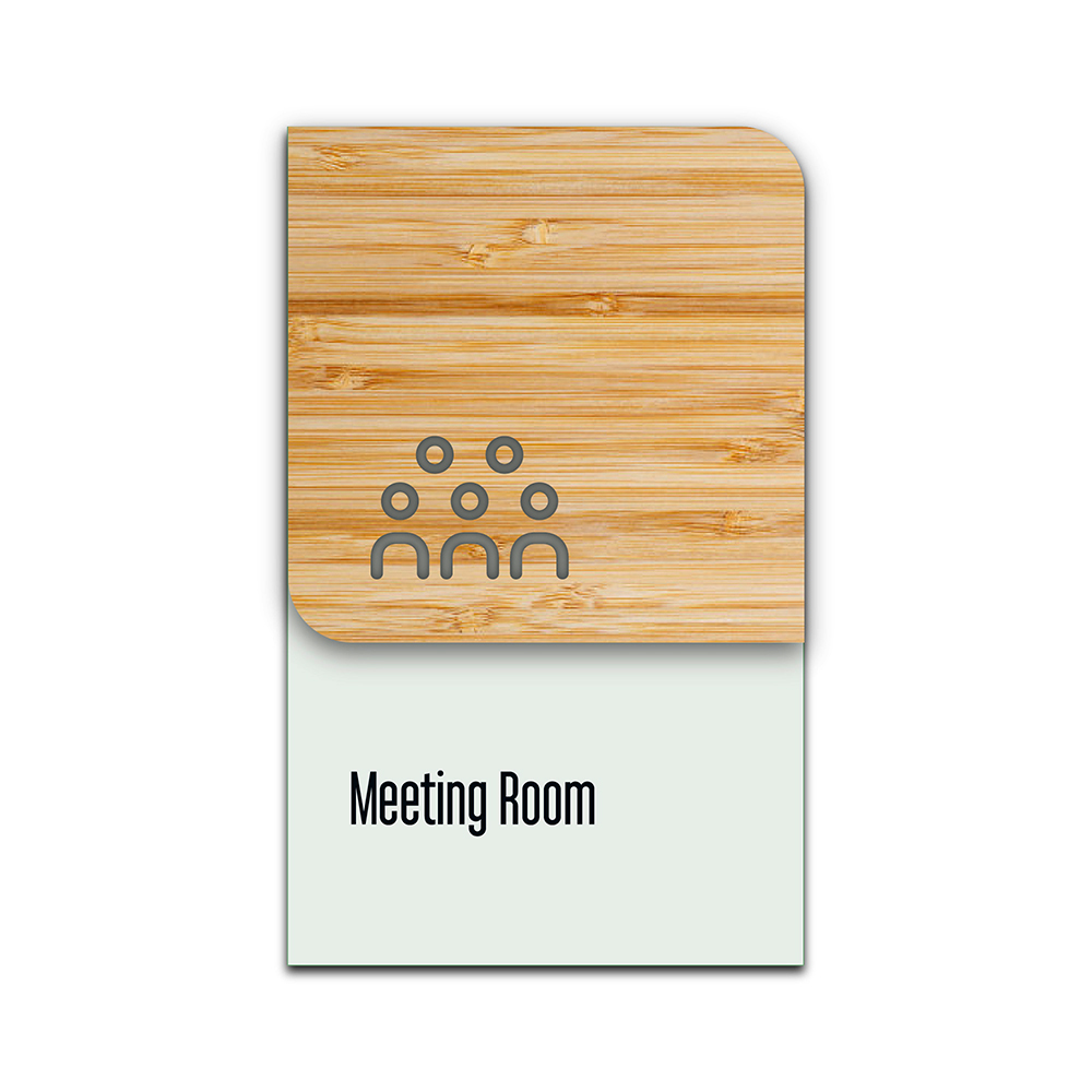 Bamboo Glass Information Sign - Meeting Room