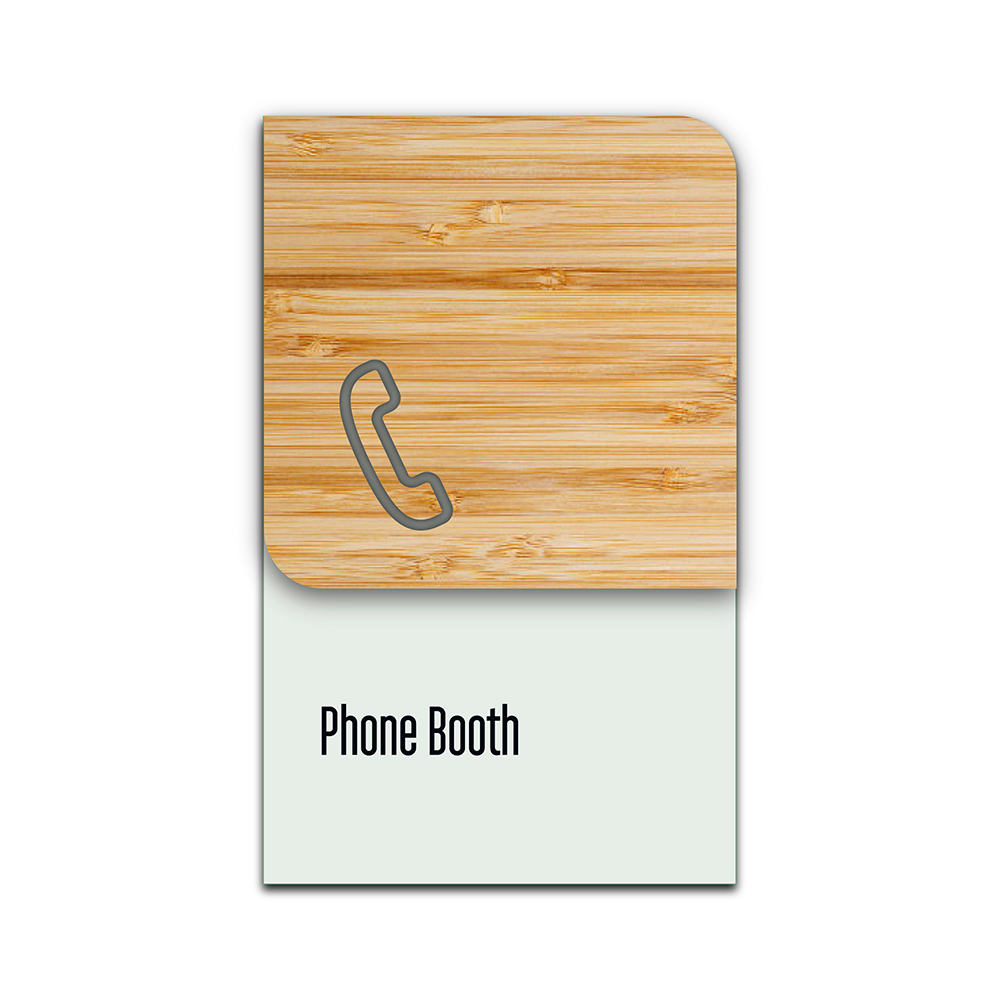 Bamboo Glass Information Sign - Phone Booth