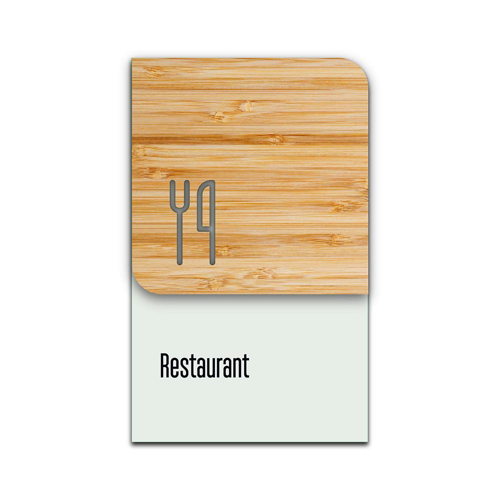 Bamboo Glass Information Sign - Restaurant