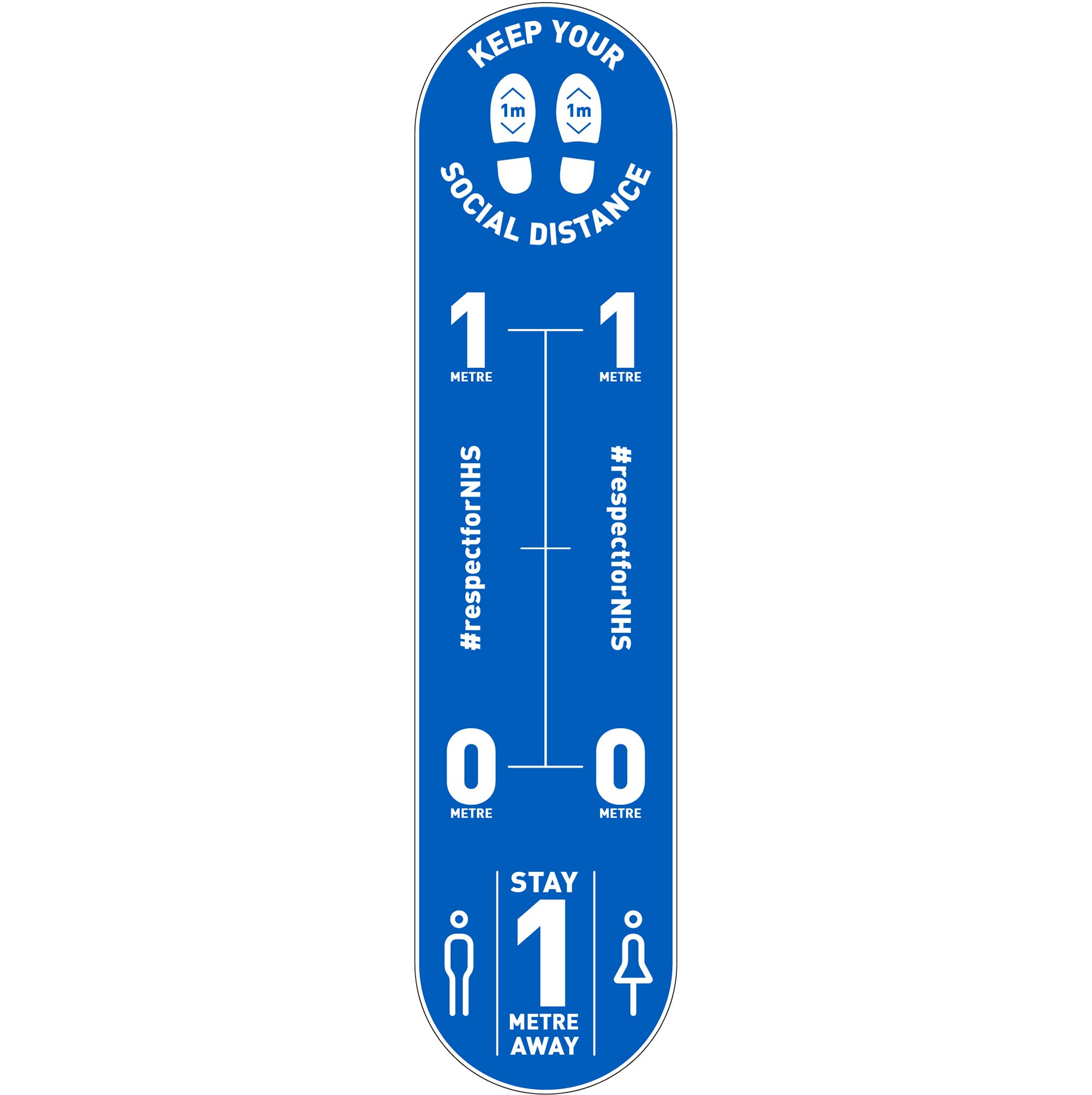 Design 2 | Blue | 1 metre