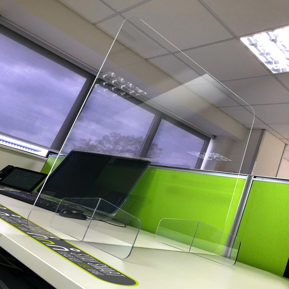 work desk sticker social distancing