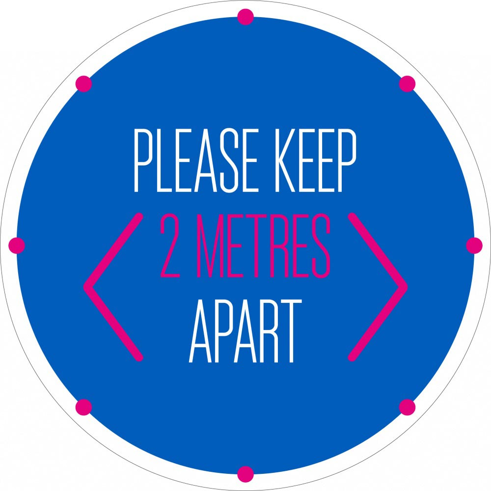 Please Keep 2 Metres Apart - Blue