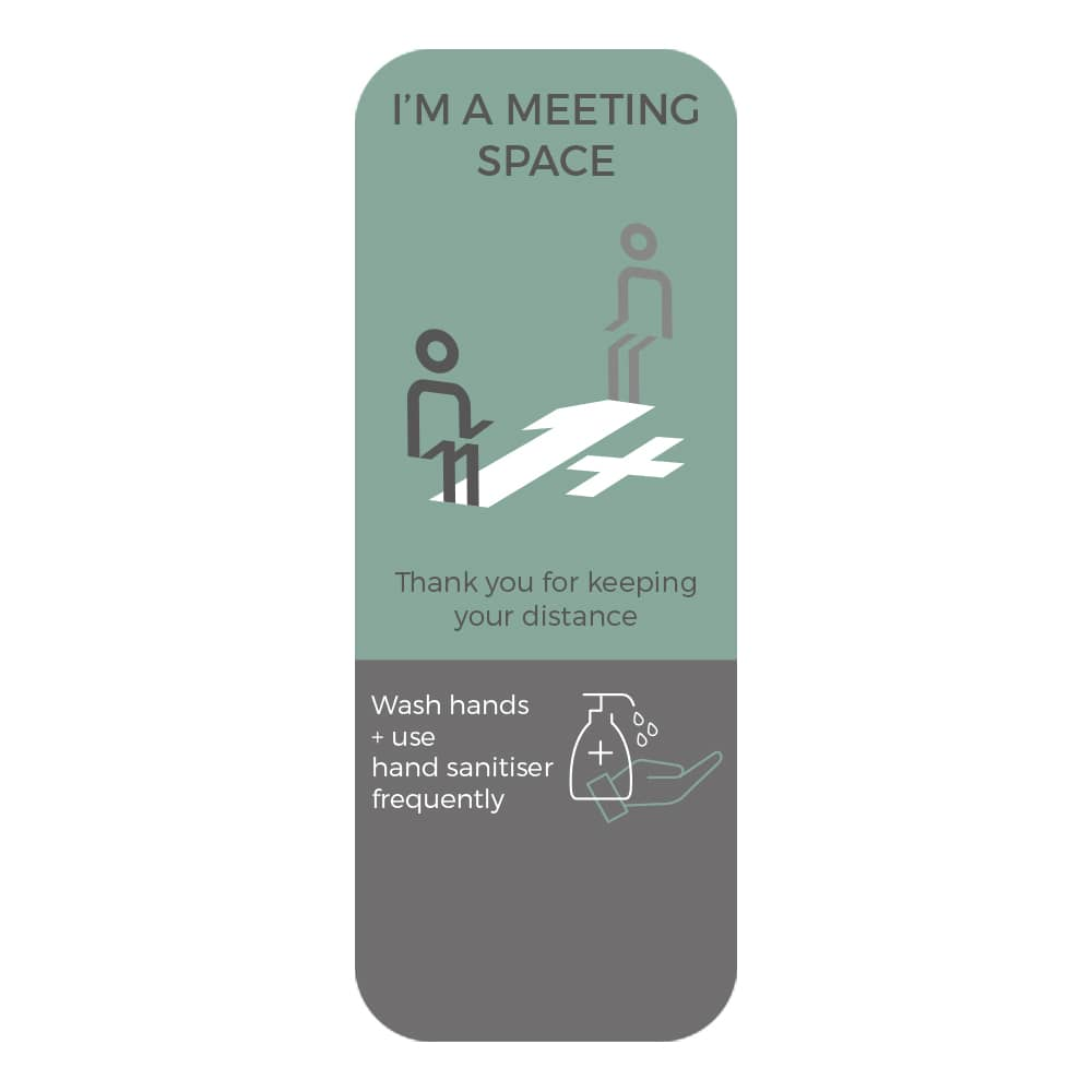 Social Distancing Sticker - 1+ Metre Social Distance - Teal