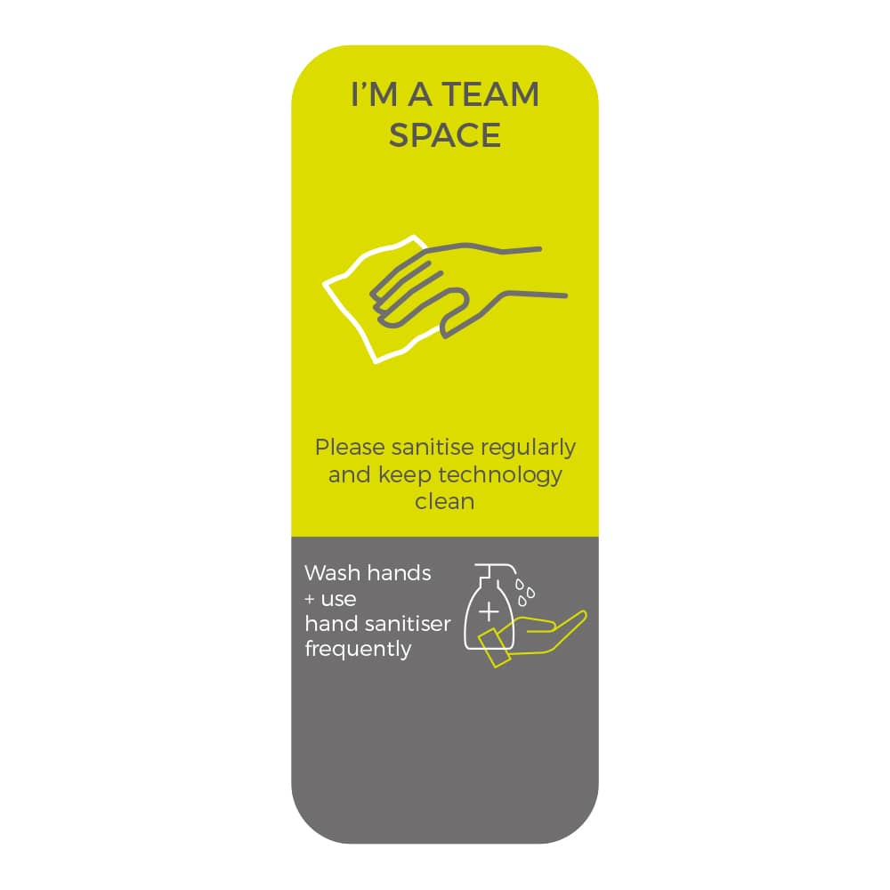 Social Distancing Sticker - Please Sanitise Regularly - Lime