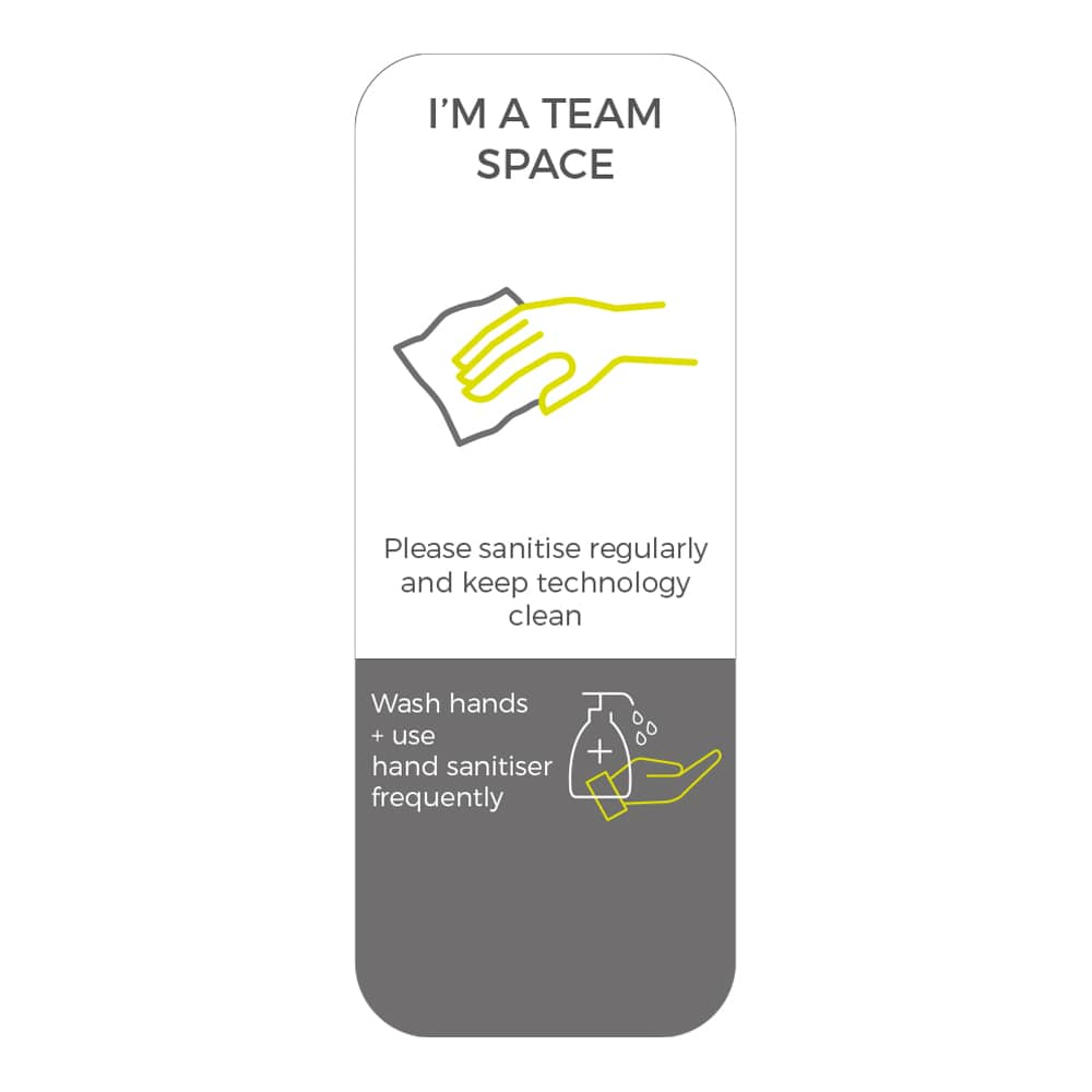 Social Distancing Sticker - Please Sanitise Regularly - White