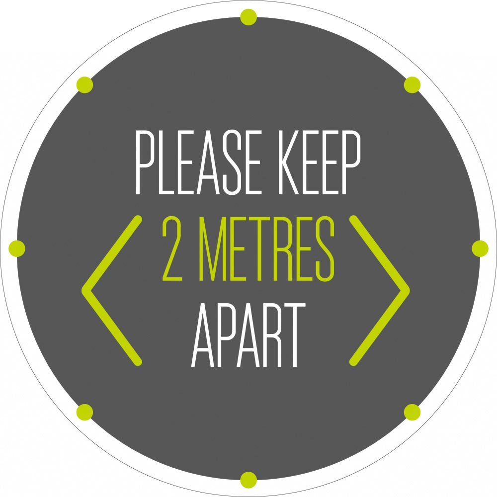 Please Keep 2 Metres Apart - Grey