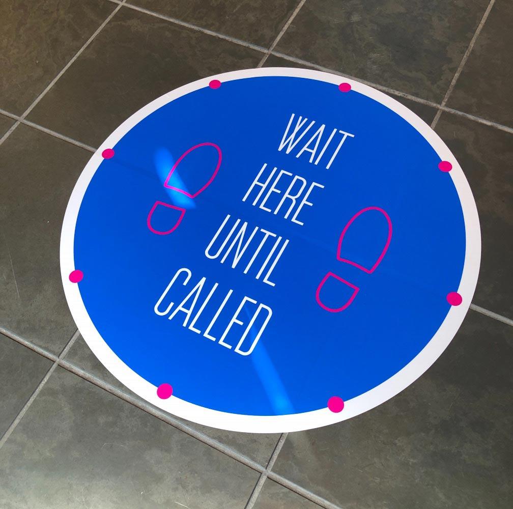 Social Distancing sticker decal floor