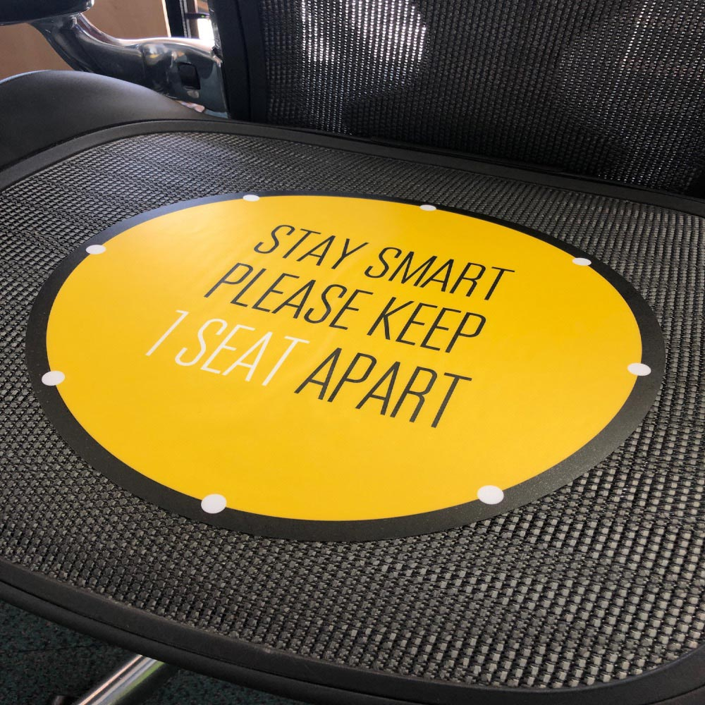 Seat Stickersocial distancing graphic