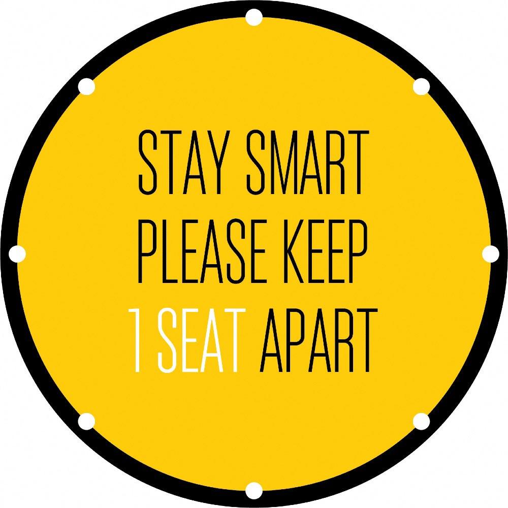 Social Distancing seat graphics