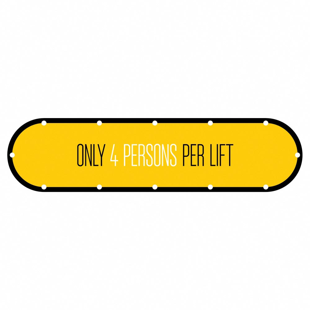 Design 1 | Yellow | Lift Social Distancing
