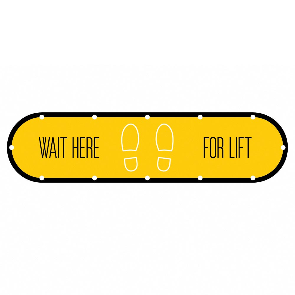 Design 2 | Yellow | Lift Social Distancing