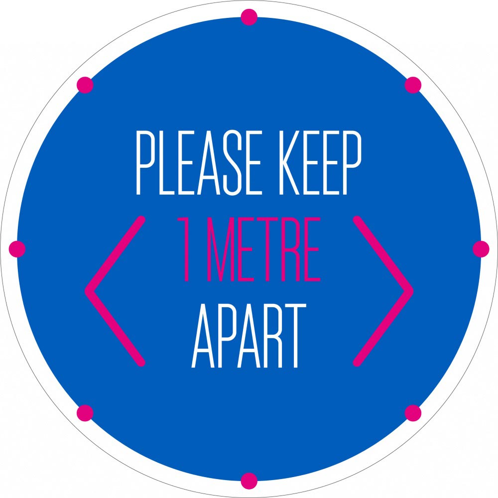 Please Keep 1 Metre Apart - Blue
