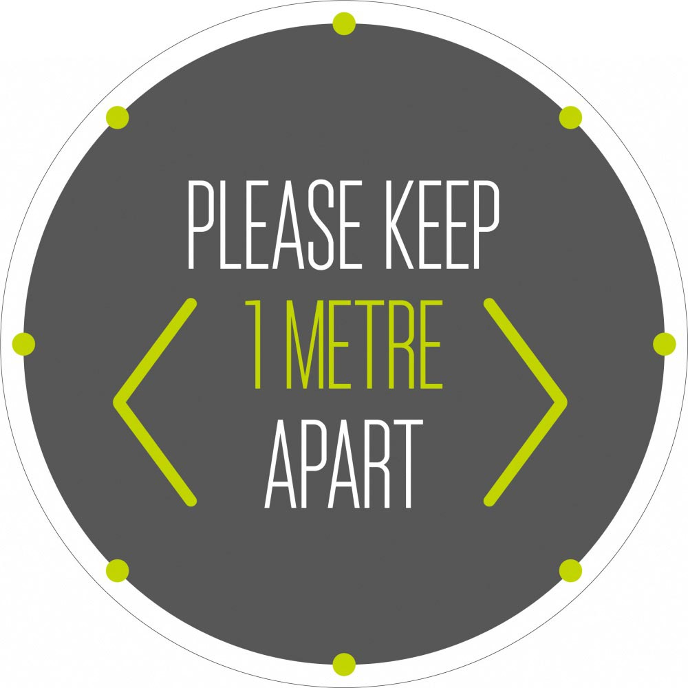 Please Keep 1 Metre Apart - Grey