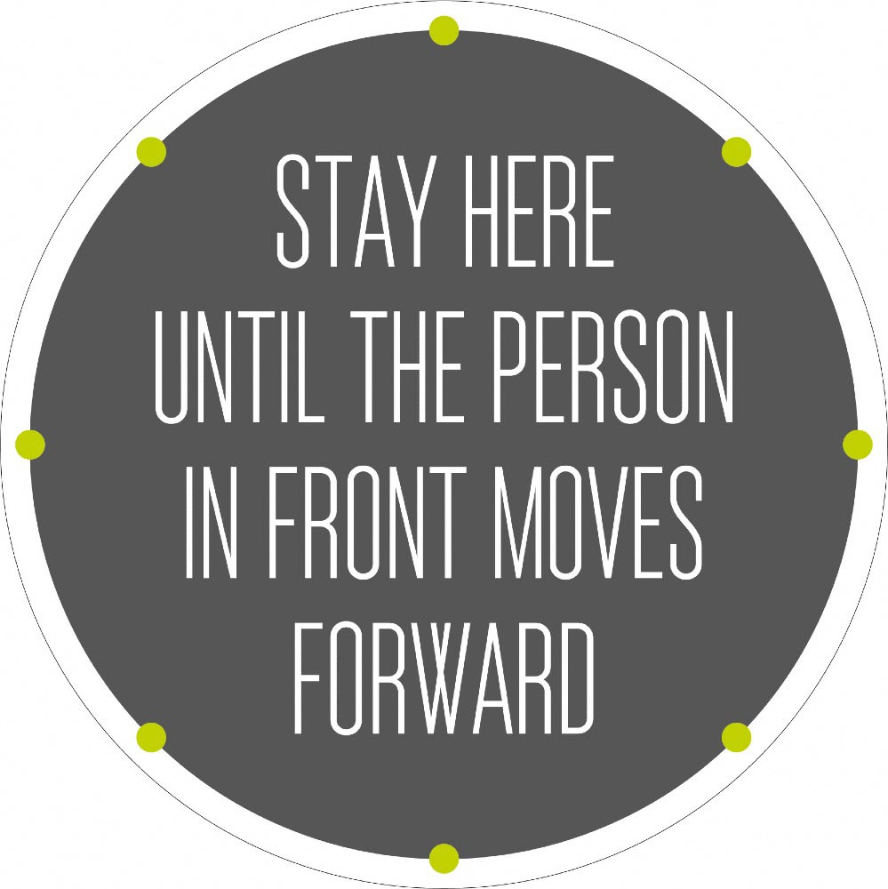 Stay Here Until The Person In Front Moves Forward - Grey