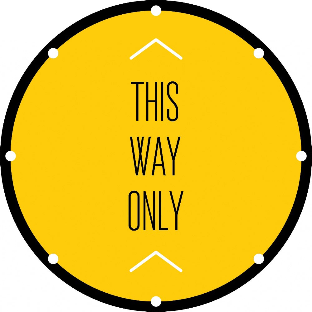 This Way Only - Yellow