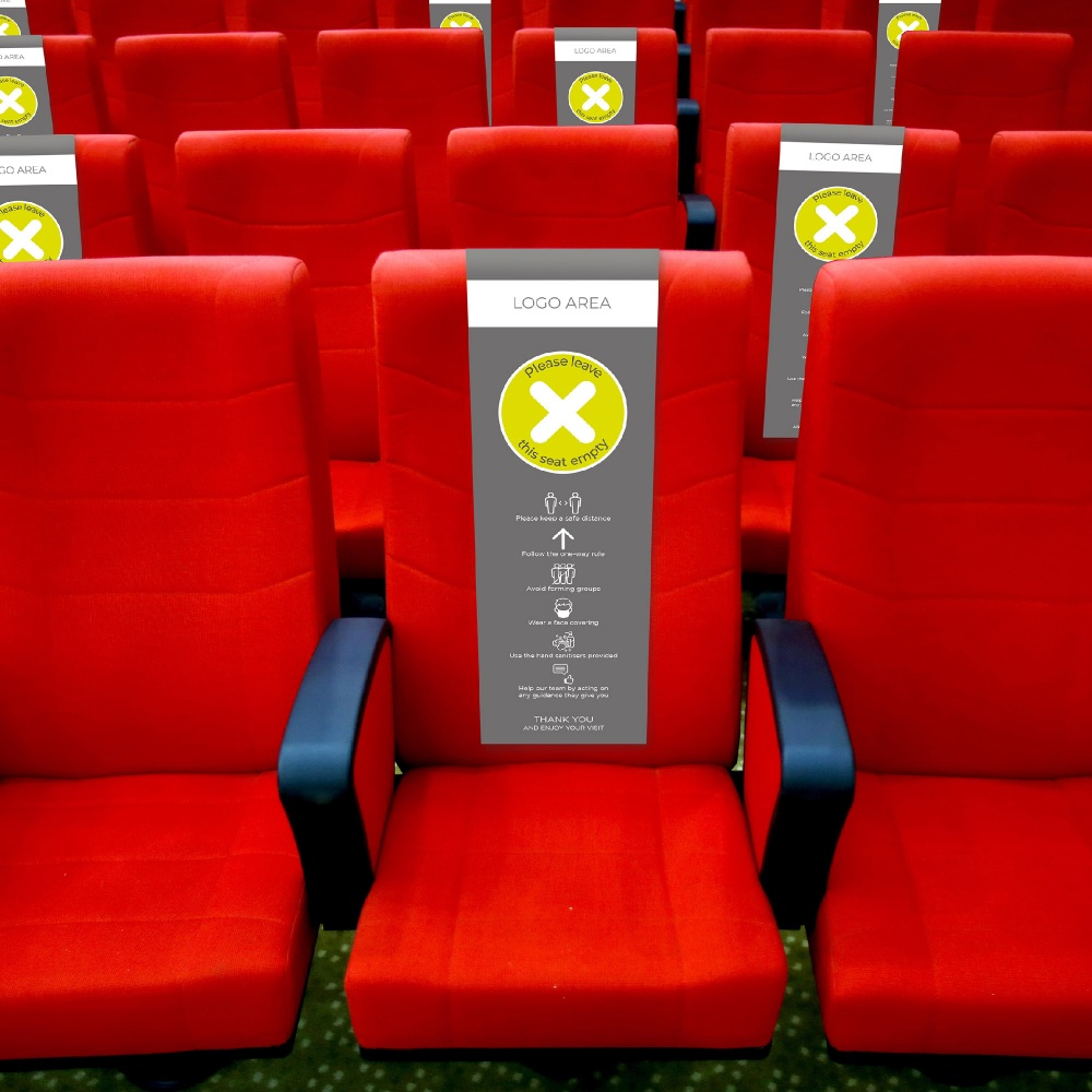 Lime green -Seat Drape - Anti Bacterial - Social distancing - Theatre