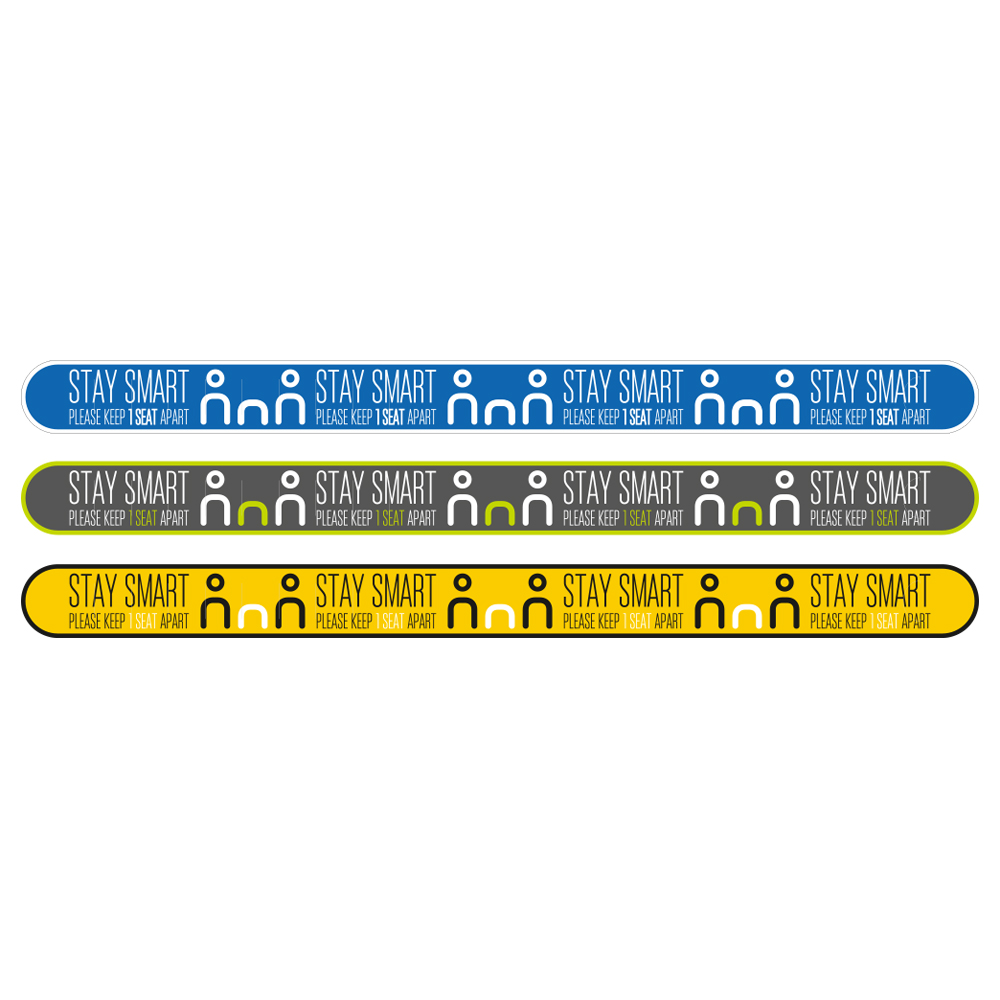 social distancing seat wrap graphic sticker