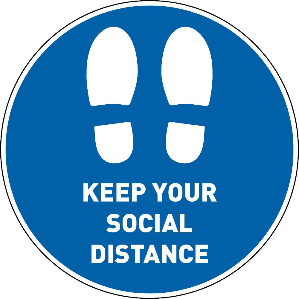 Keep Your Social Distance - Blue