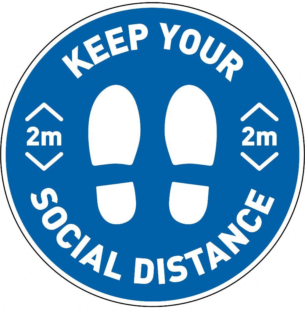 Design Social Distancing sticker