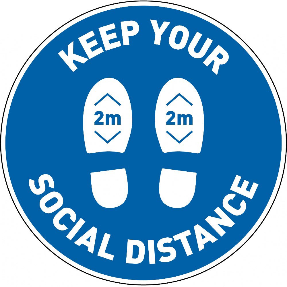 Keep Your Social Distance 2m - Blue