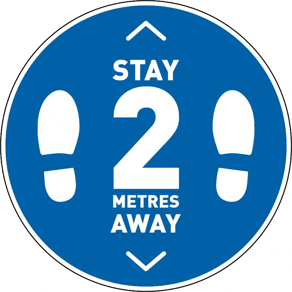 Stay 2 Metres Away v2 - Blue