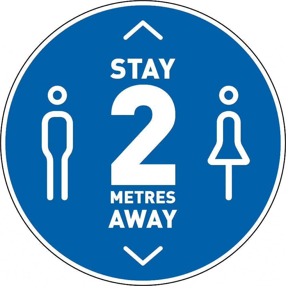 Stay 2 Metres Away v3 - Blue