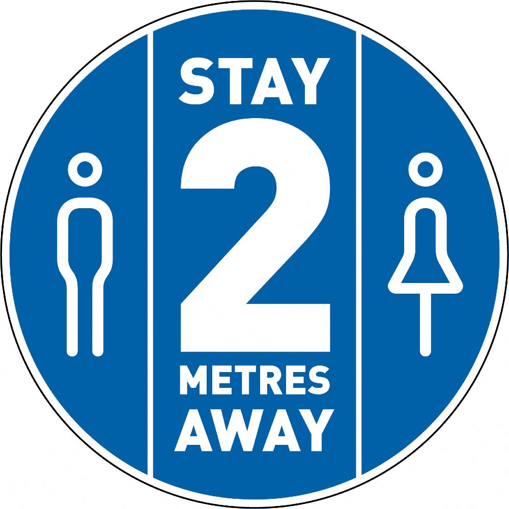 Stay 2 Metres Away - Blue