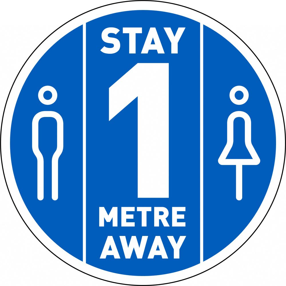 Stay 1 Metre Away - Blue