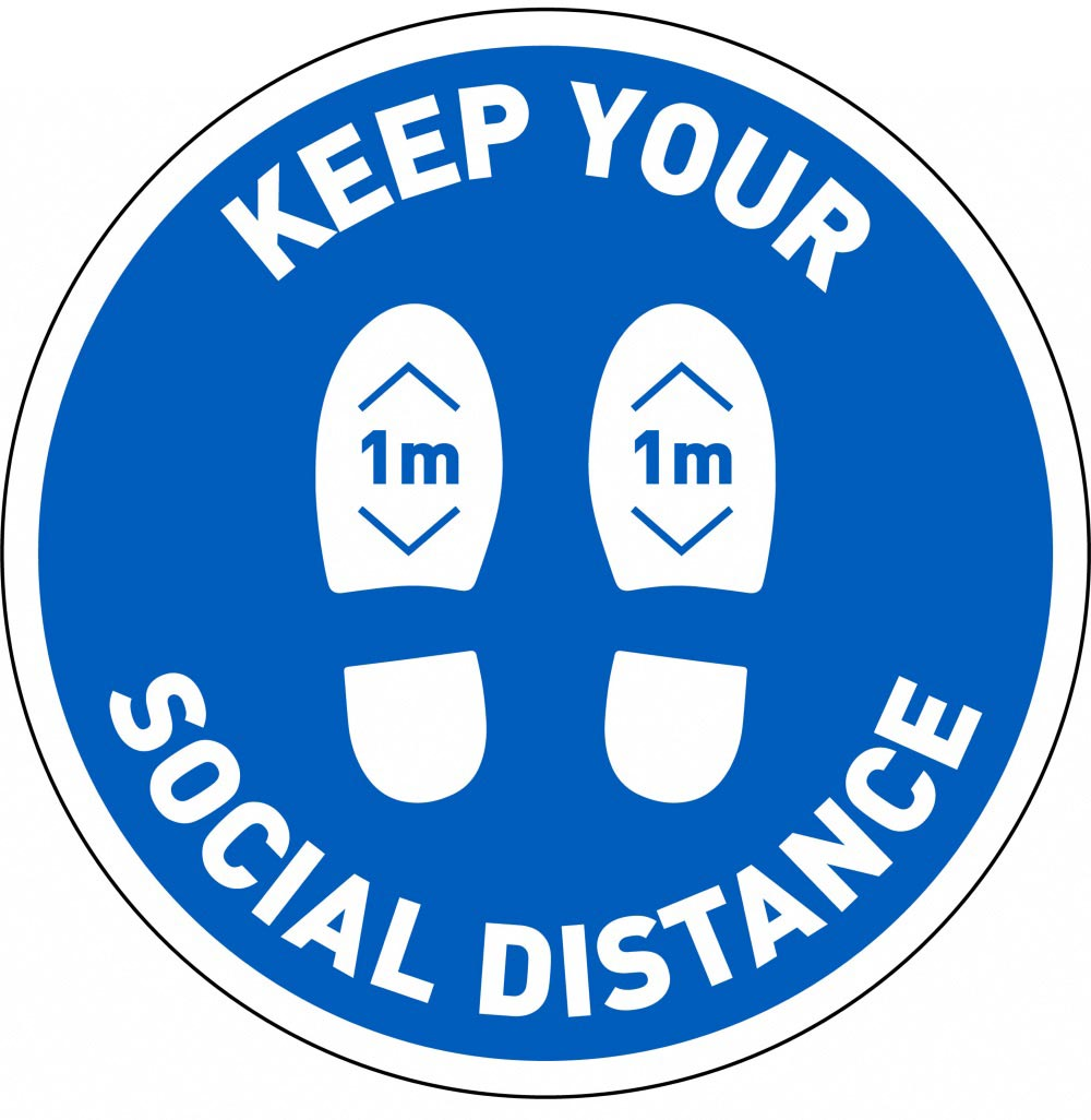 Keep Your Social Distance 1m - Blue