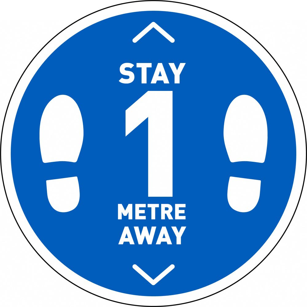 Stay 1 Metre Away v2 - Blue