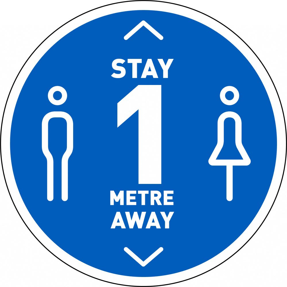 Stay 1 Metre Away v3 - Blue