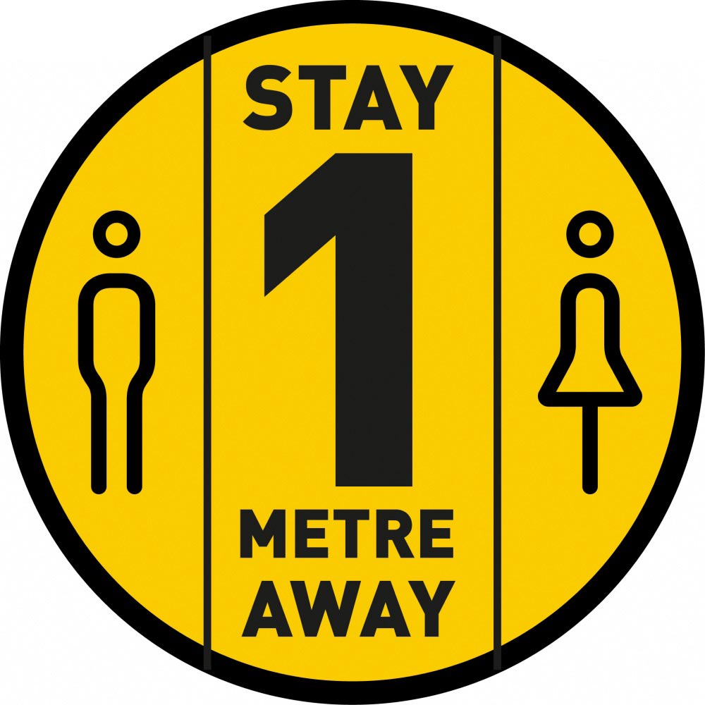 Stay 1 Metre Away - Yellow