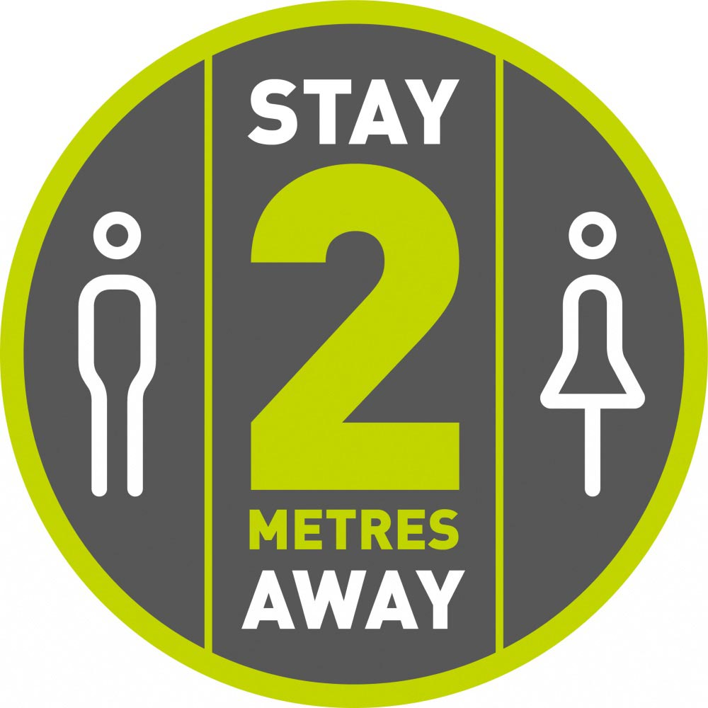 Stay 2 Metres Away - Grey