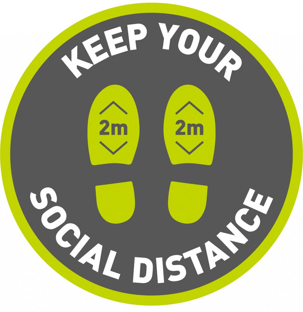 Keep Your Social Distance 2m - Grey