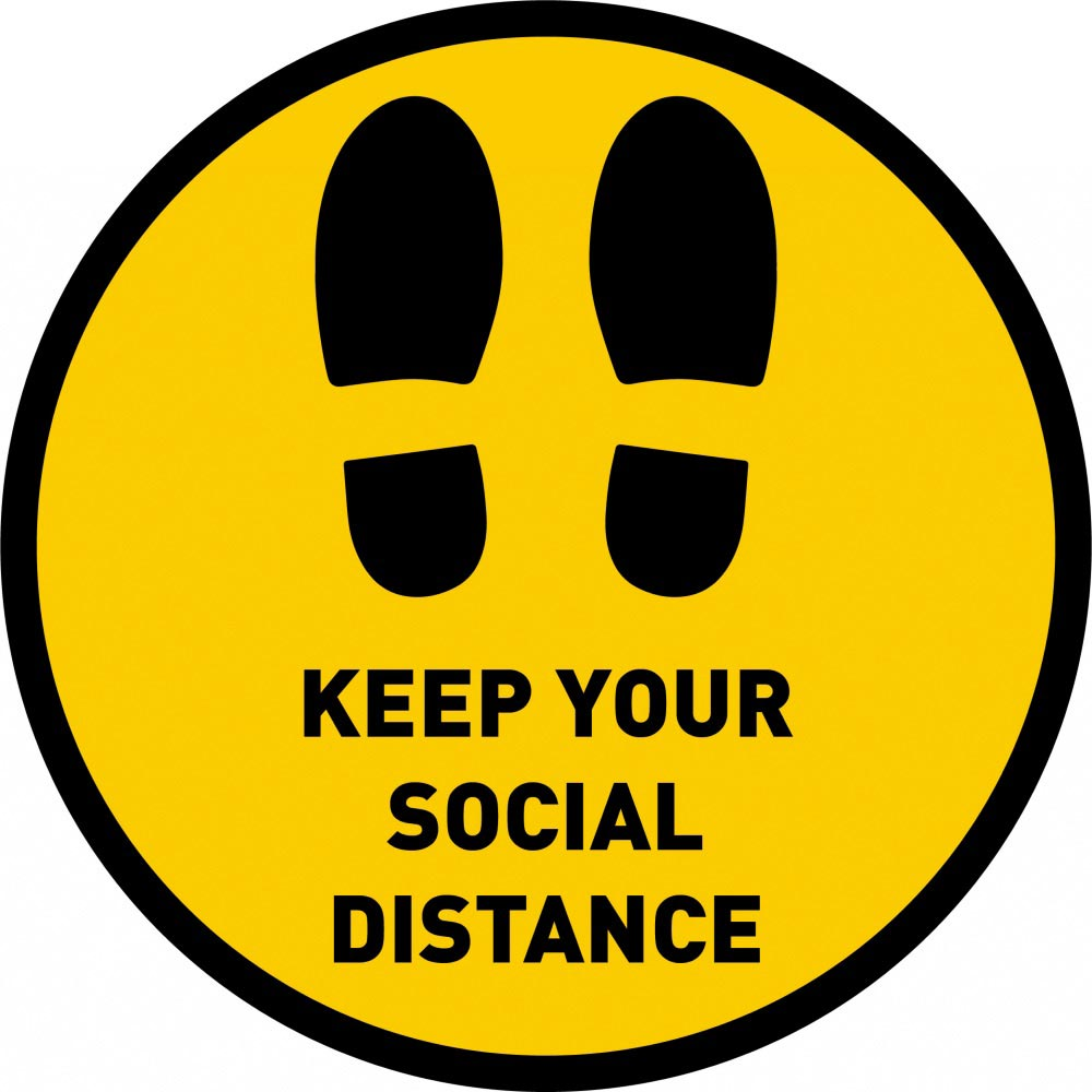 Keep Your Social Distance - Yellow