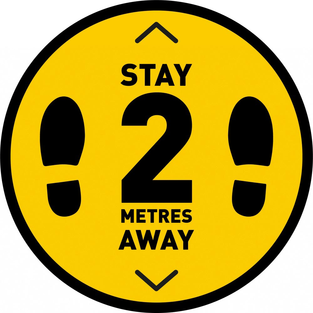 Stay 2 Metres Away v2 - Yellow