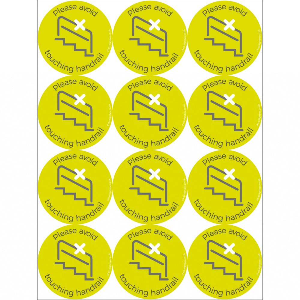 Social Distancing Stickers - Don't Touch Handrail