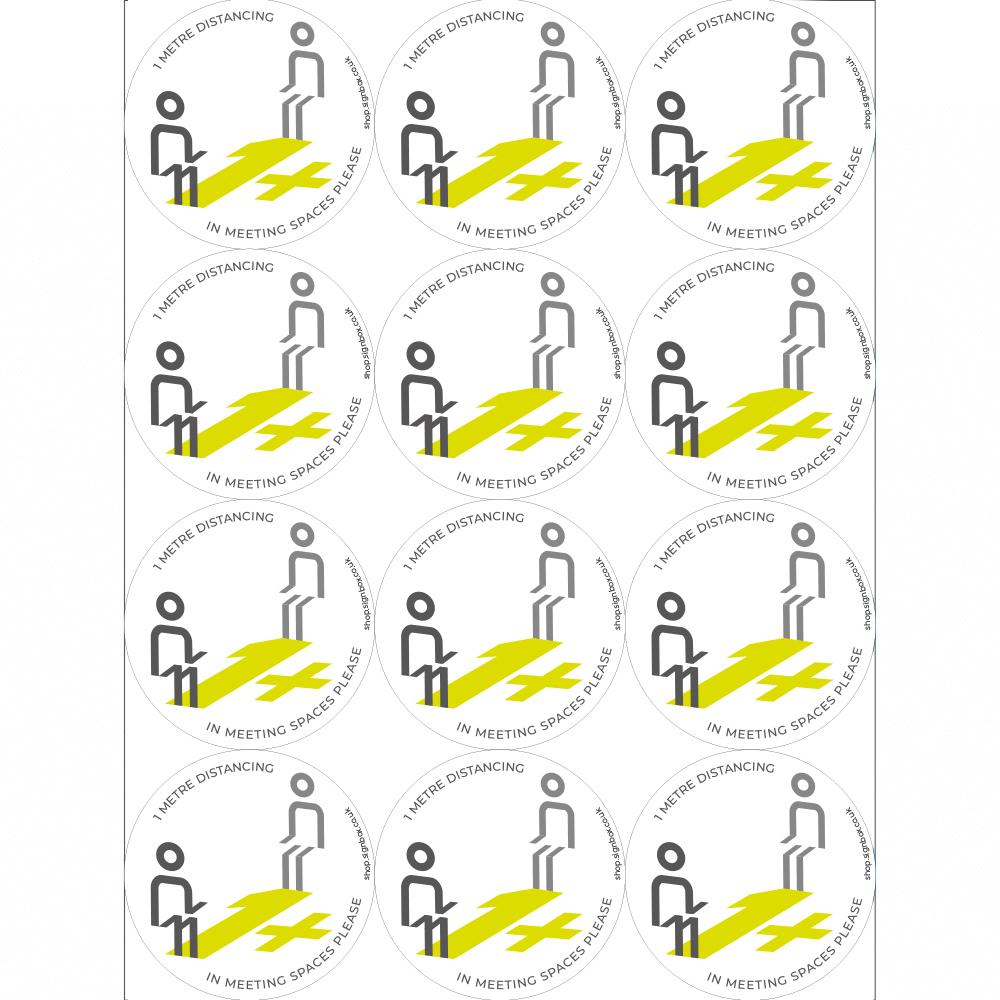 Social Distancing Stickers - 1 metre distancing
