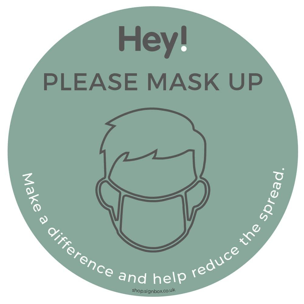 Please Wear a Mask - Window Sticker - Teal