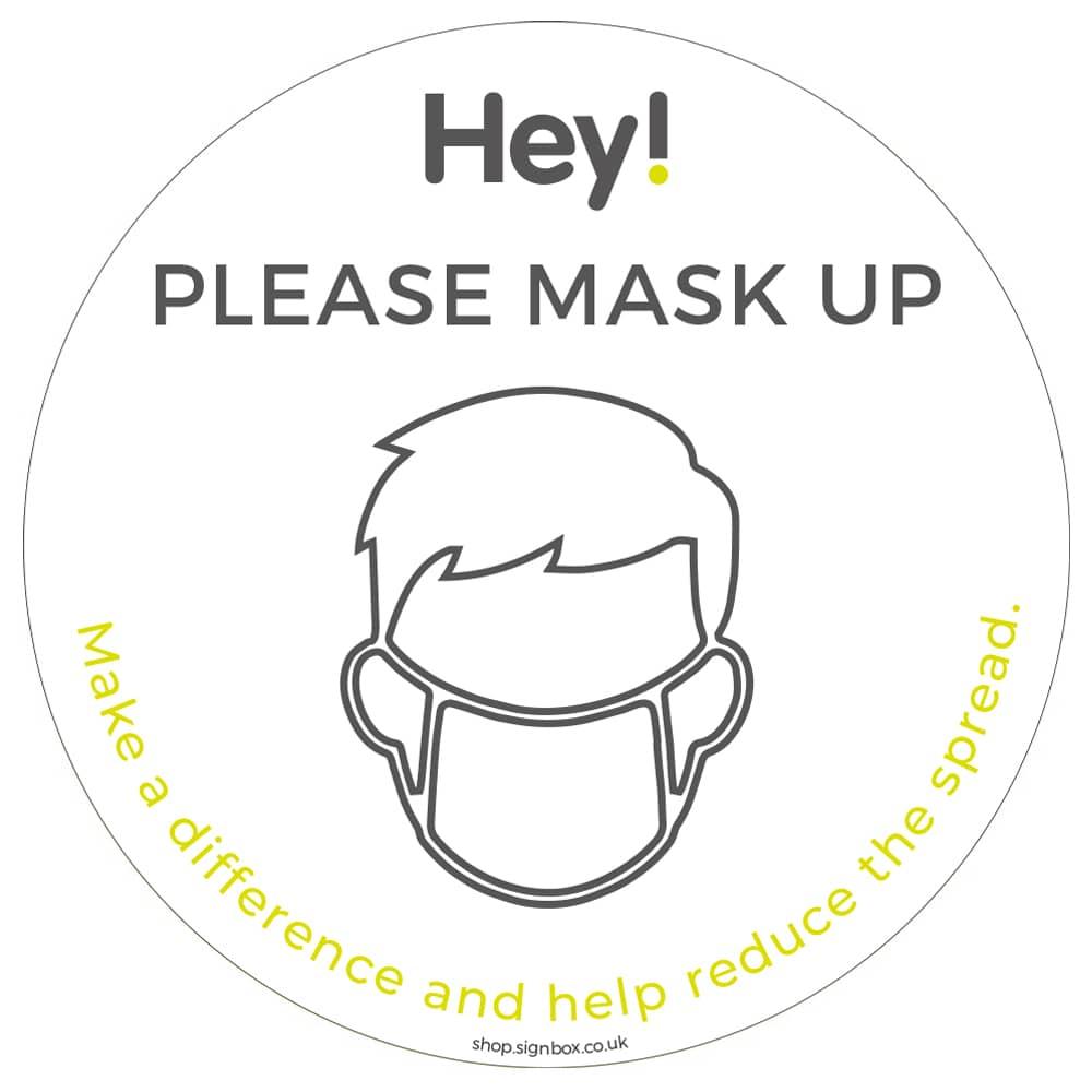 Please Wear a Mask - Window Sticker - White