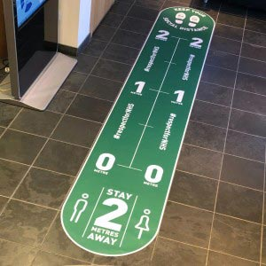 Social distancing floor stickers full length sign - Premium XL