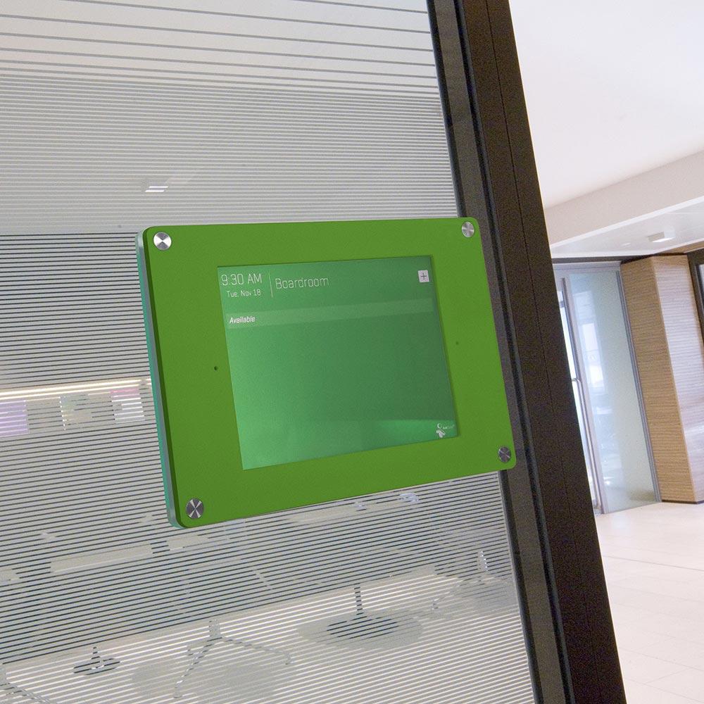 green ipad holder