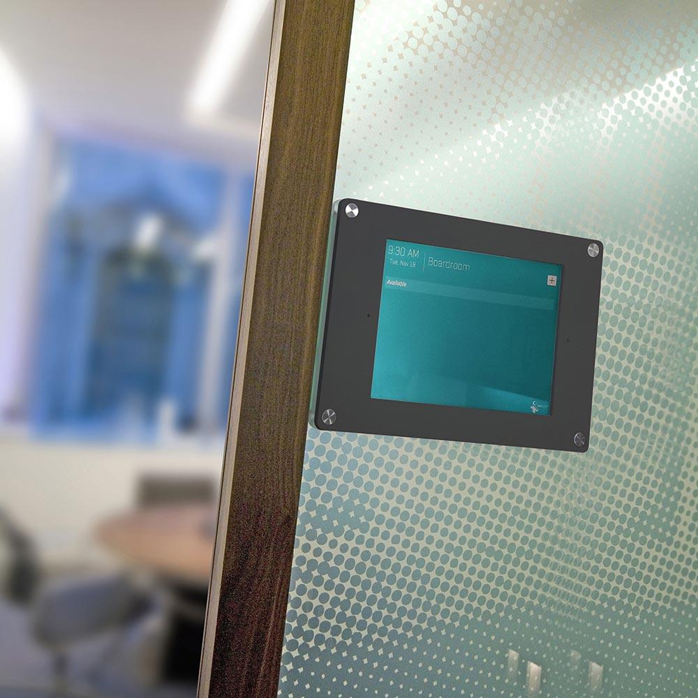blue tablet holder