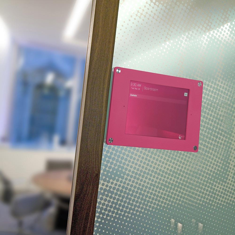 pink ipad holder