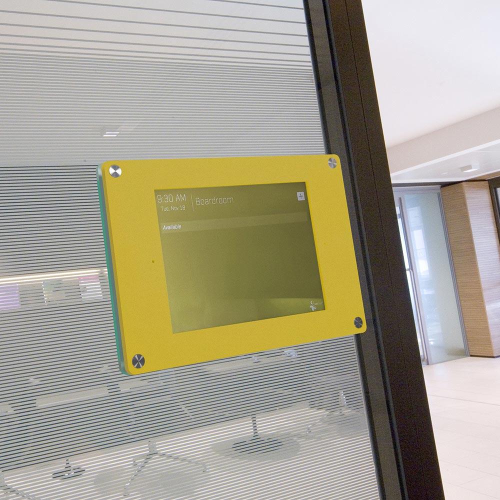 yellow ipad holder