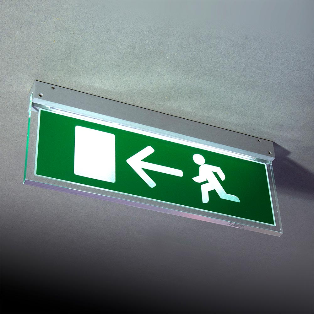 Ceiling Mounted emergency sign