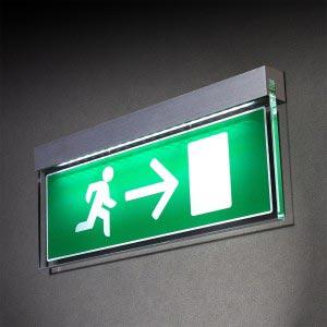 Statutory sign LED illuminated